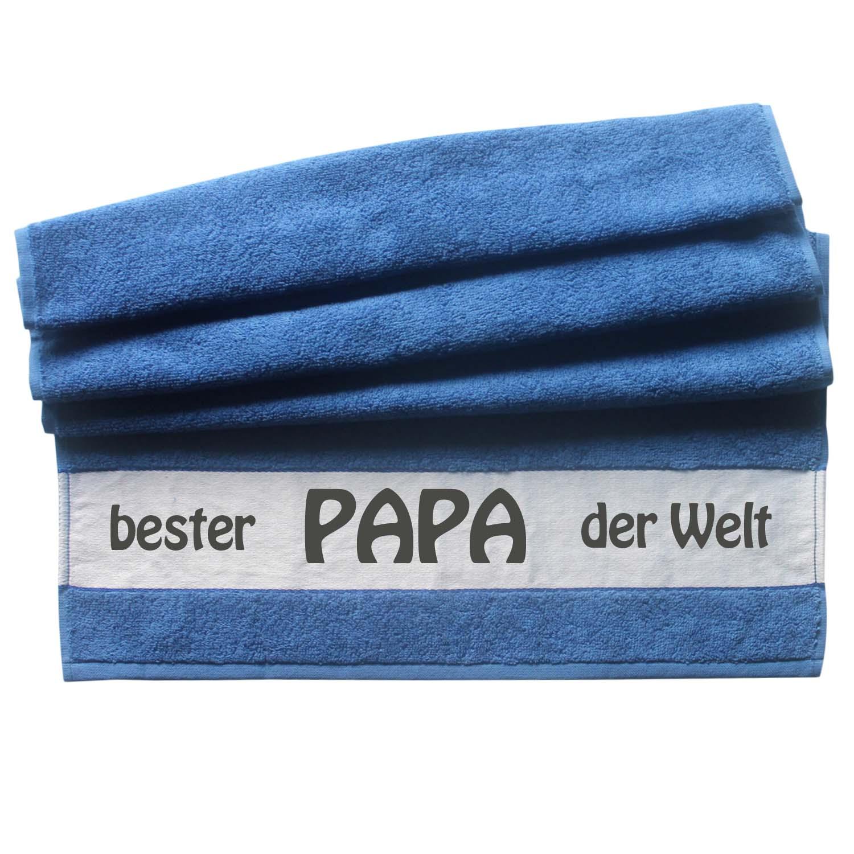 Handtuch bester Papa der Welt 50x100   blau