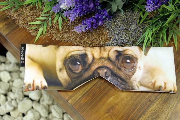 Augenkissen Bulldogge mit Lavendel und Leinsamen