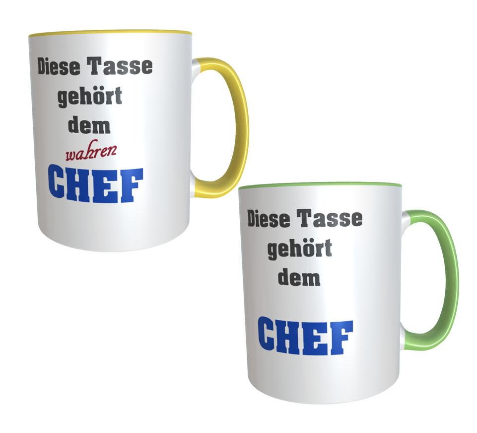 Chef Tassen im Set Chef und wahrer Chef