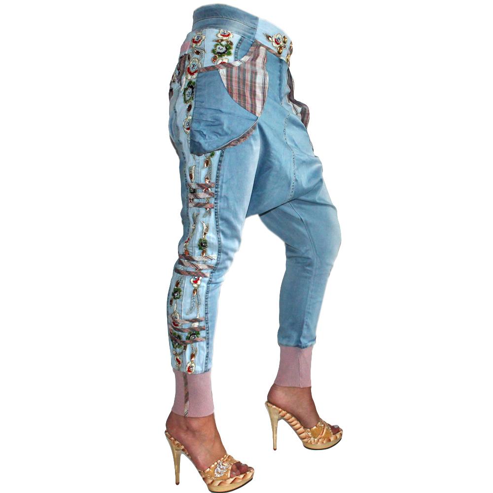 Signet 1185 Damen Haremshose Pumphose Eisblau Jeans Pumphose 03