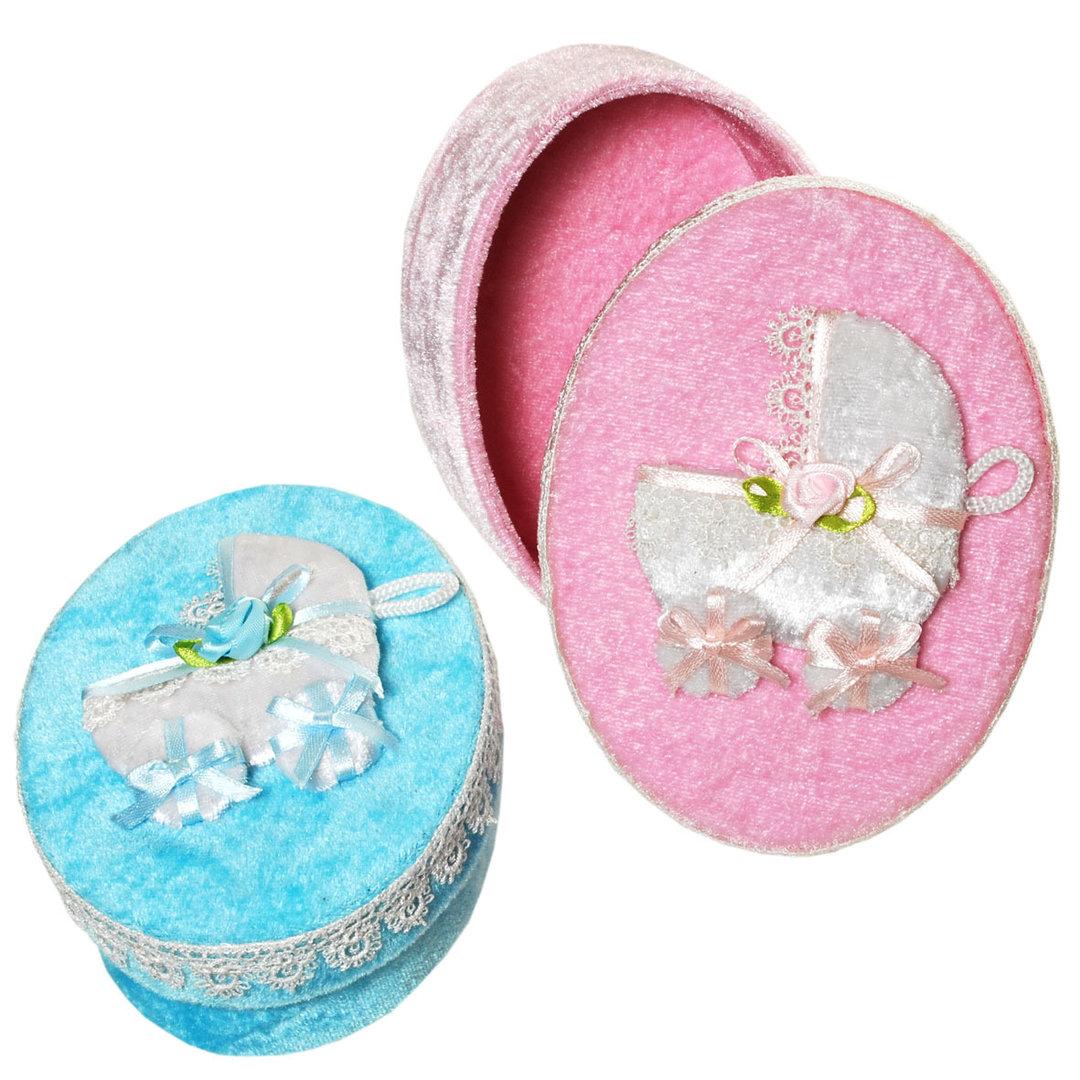 Geschenk-Schachtel Baby oval Junge Mädchen