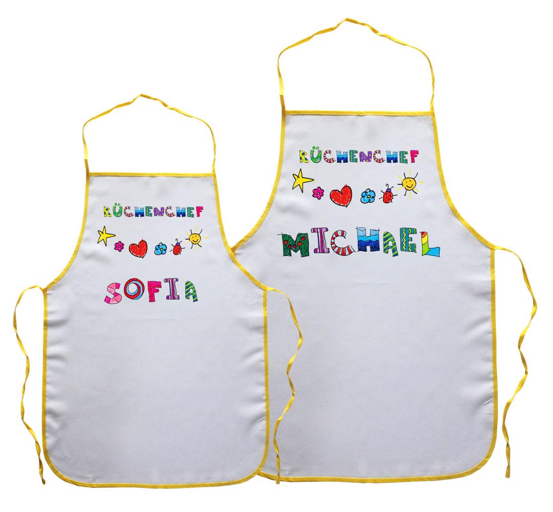Kinderschürze Küchenchef mit Name