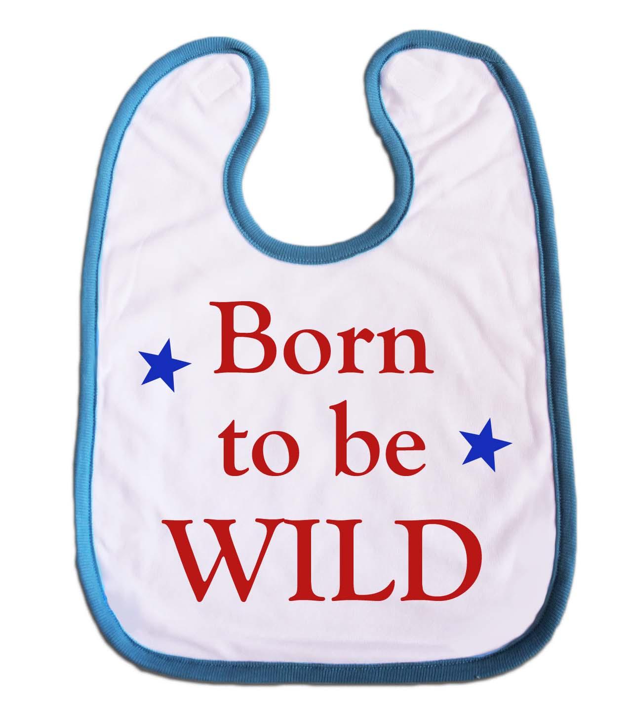, bedruckte Lätzchen, kleine Geschenke für Geburt und Taufe blau