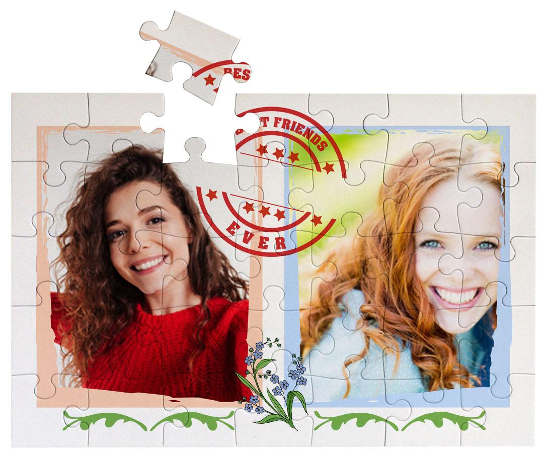 Puzzle Geschenk mit Foto beste Freundin mit Fotos