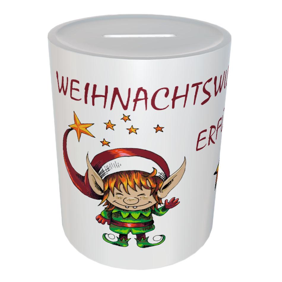 Spardose Geschenk Weihnachten Weihnachtswunsch Erfüller 01