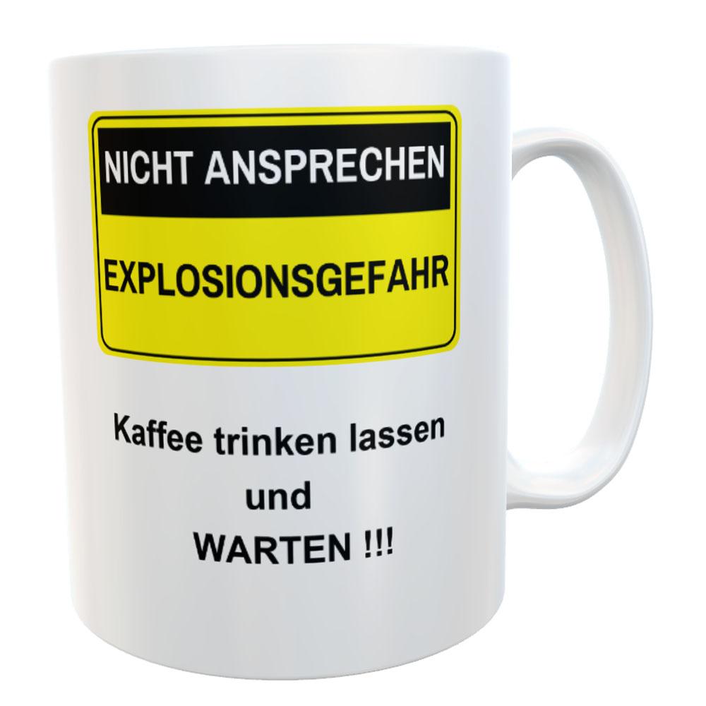 Tasse Nicht ansprechen für Morgenmuffel Kaffeebecher