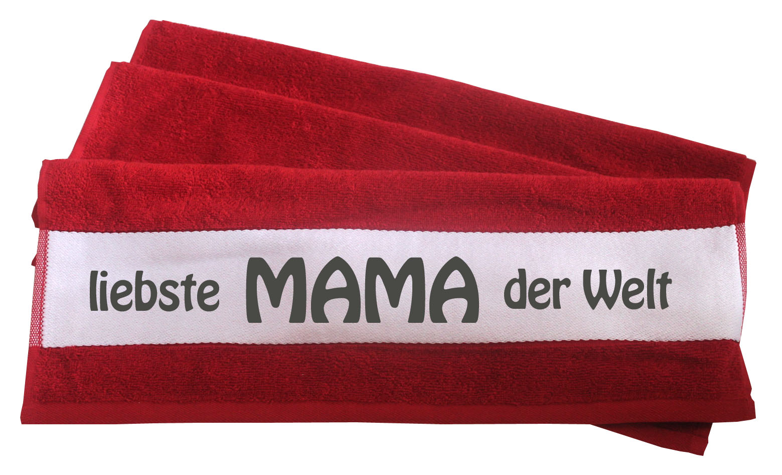 Handtuch liebste Mama der Welt rot 50x100