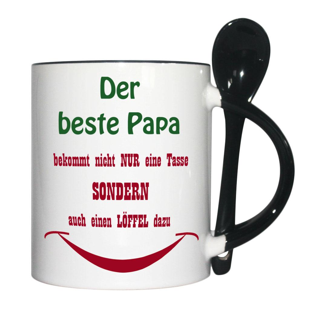 löffeltasse bester papa tasse löffel schwarz