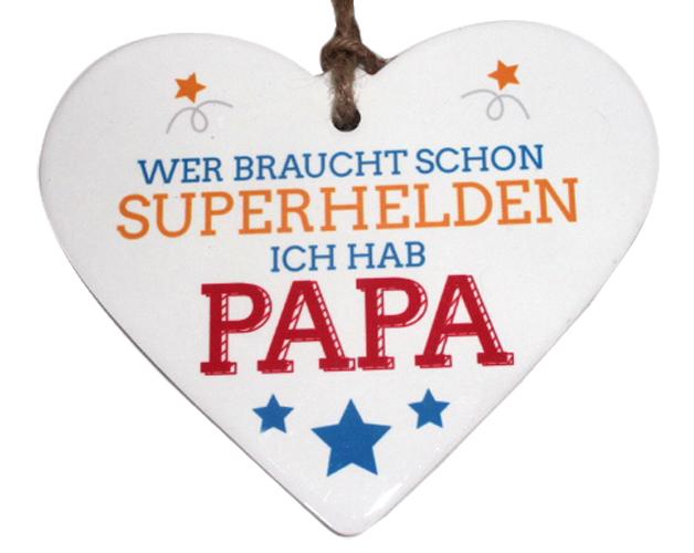 Herz Papa Deko Herz Geschenk von Herzen Vatertag