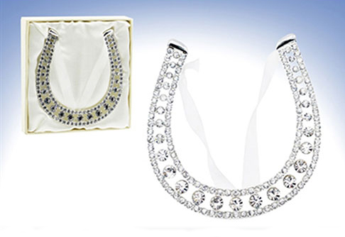 Diamanten Hufeisen zum Aufhängen für das Glück