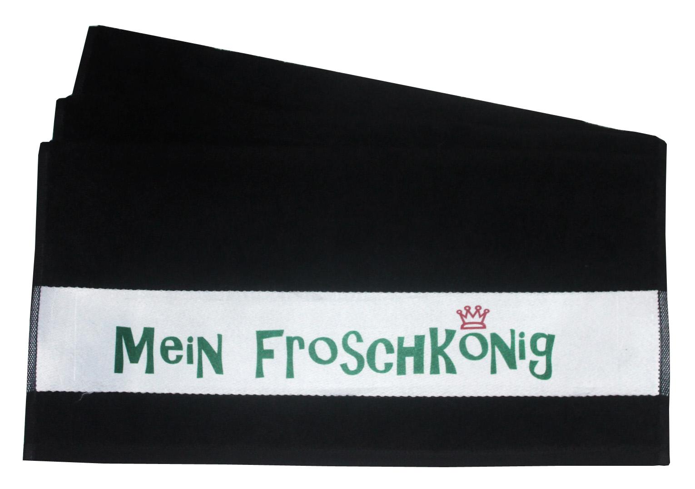 Handtuch Mein Froschkönig schwarz 50x100