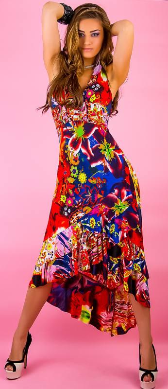 Exclusiv Maxidress S/M rot Damen Kleid lang 05