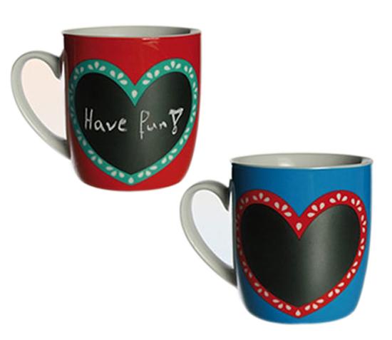 Tasse mit Tafel Kaffeebecher zum beschreiben