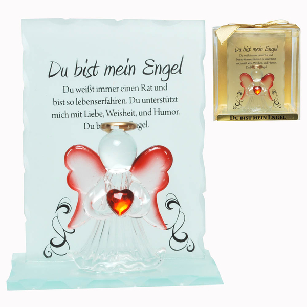 Kristall-Engel Mein Engel Kristall Geschenk mit Spruch