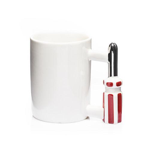 Porzellan Schraubendreher Becher für Handwerker Kaffeebecher