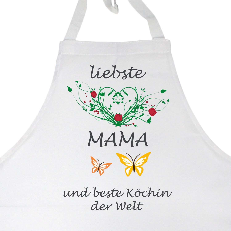 Latzschürze Muttertag liebste Mama und besten Köchin der Welt