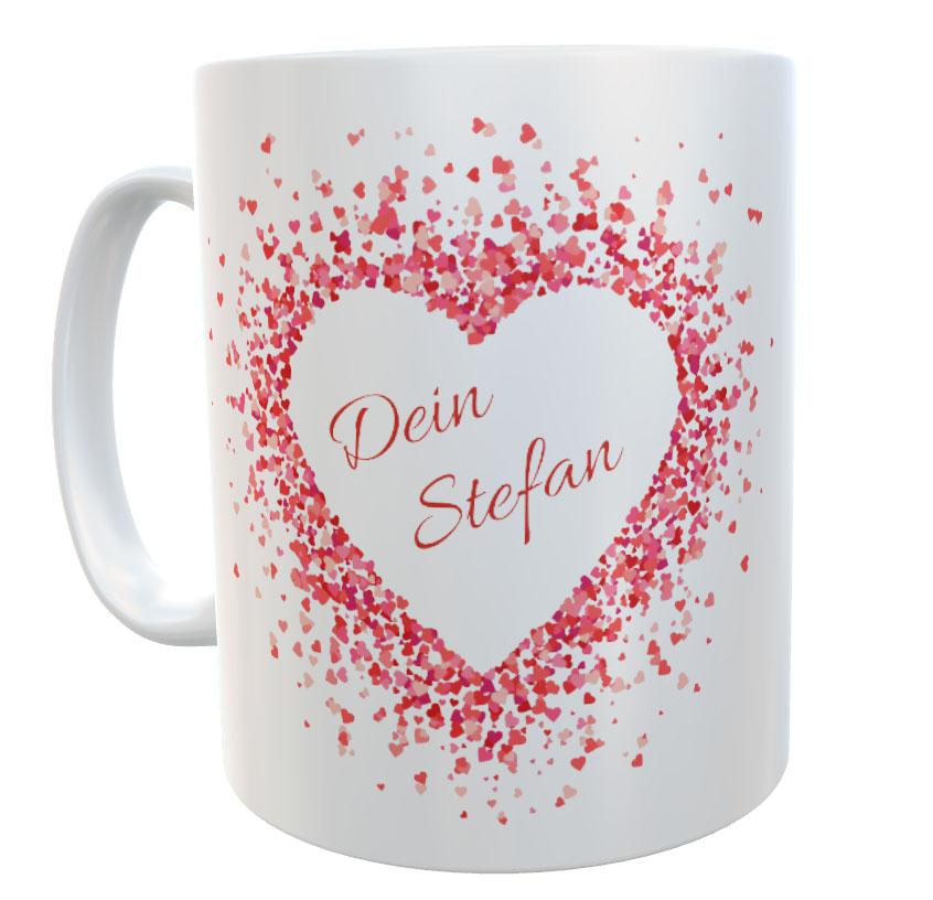 Tasse mit Name Liebe Valentinstag Dich an meiner Seite 03