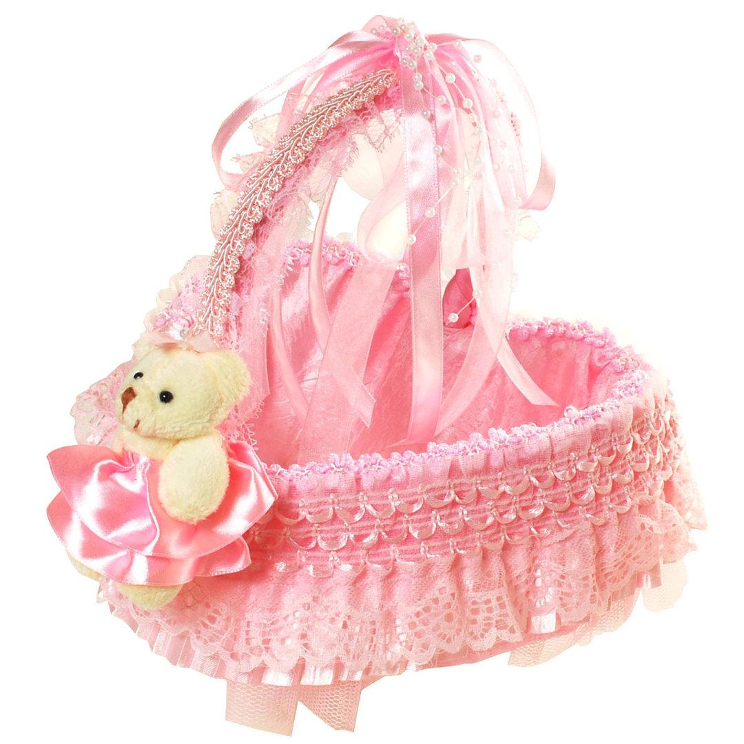 Herz Geschenk Körbchen rosa für Mädchen