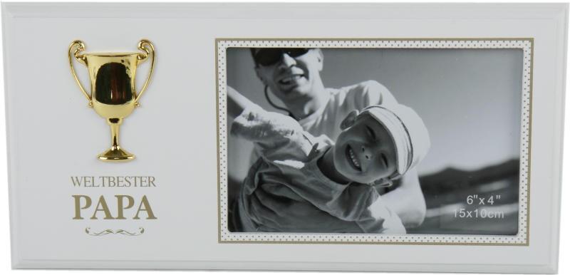 Fotorahmen Weltbester Papa mit Pokal - Geschenke von Herzen