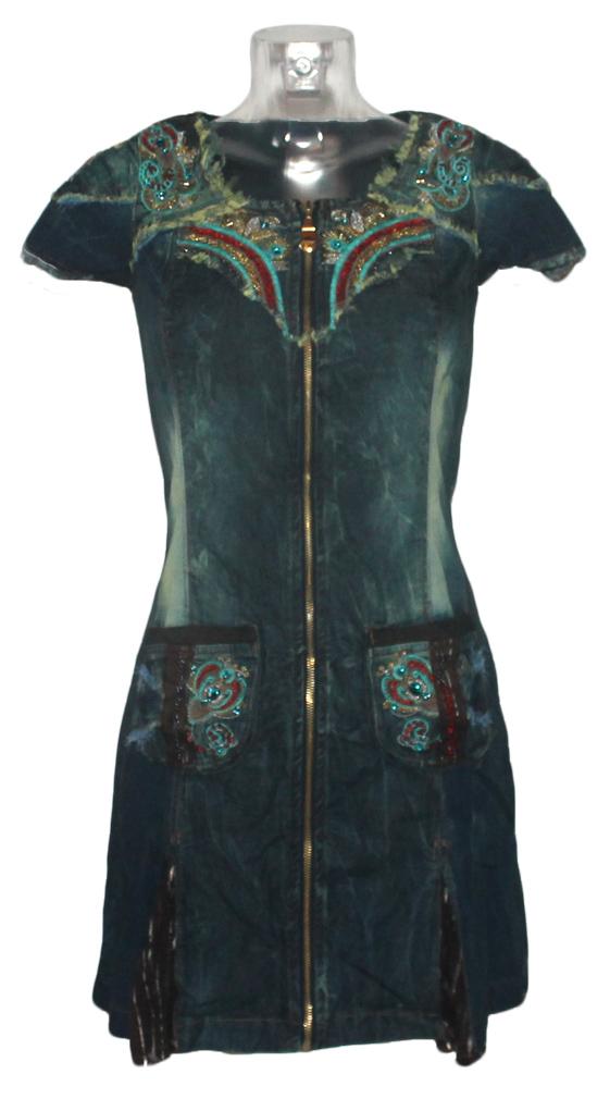 Damen Jeans Kleid Minikleid Signet 3188 dark denim