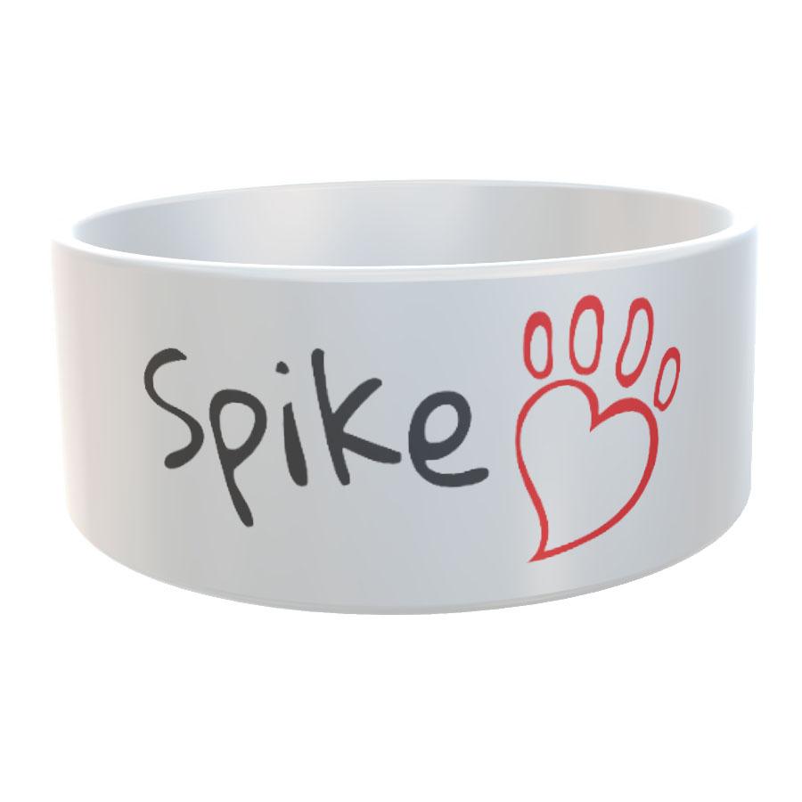 Hundenapf Katzennapf Herzpfote mit Name