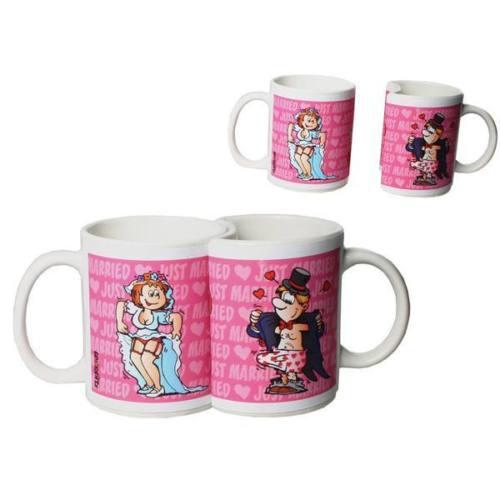 Tassen-Set zur Hochzeit Kaffeebecher für Paare Scherz
