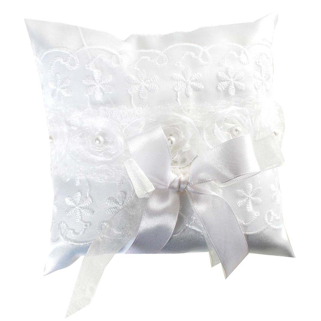 Ringkissen mit Spitze Hochzeit Kissen Rind