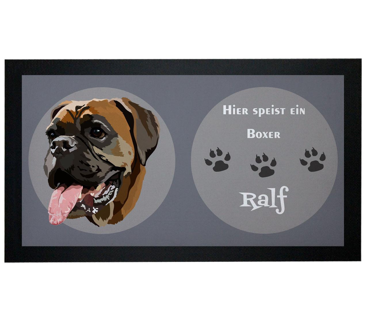 Napfunterlage Hund Boxer mit Name