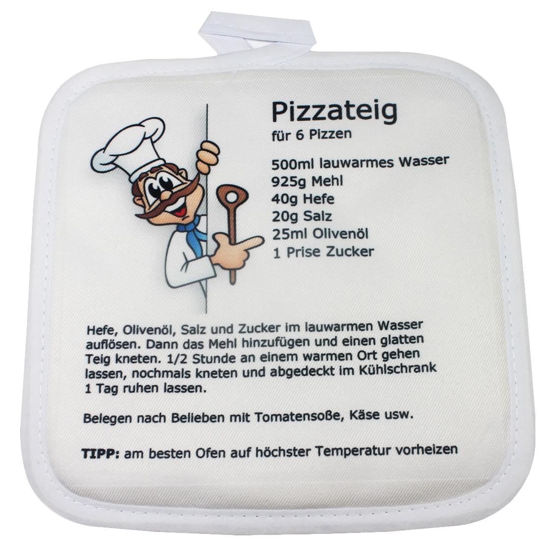 Topflappen mit Rezept Pizza Pizzateig
