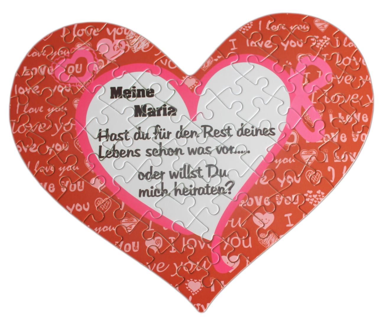puzzle love design mit eigenem text