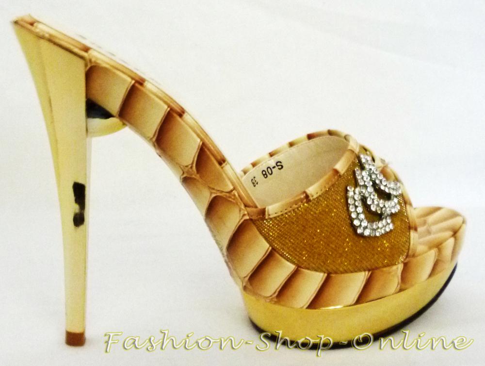 Pumps Schuhe gold 35