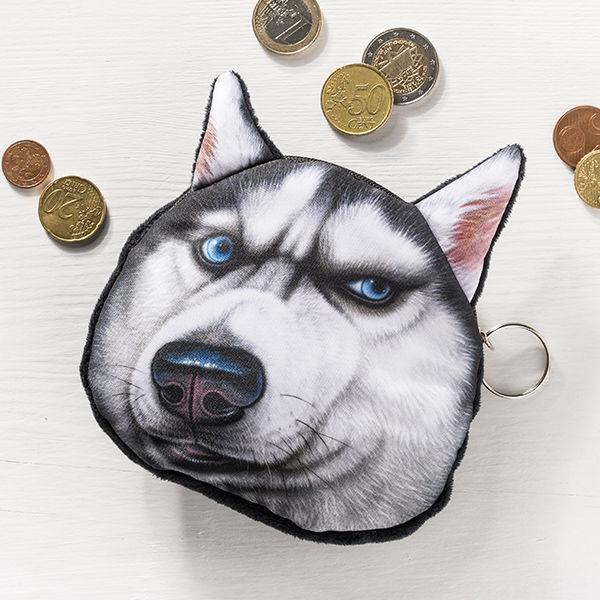 Münzen Tasche Hund 3D Effekt Modell 2 Geldbeutel 05