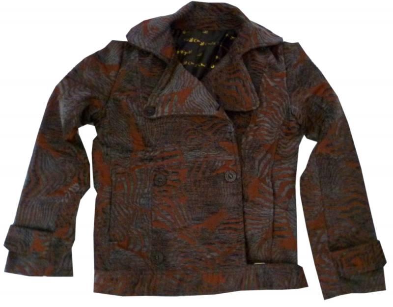 Desigual Damen Jacke Gr. 38 in braun mit Kragen