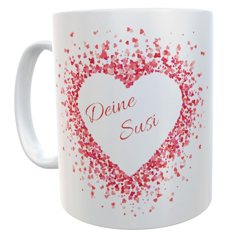 Tasse mit Name Liebe Valentinstag Dich an meiner Seite 02