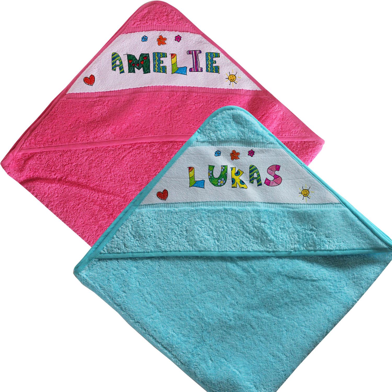 Kinder Handtuch Kapuze mit Name