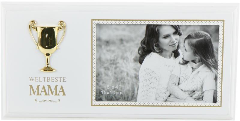 Fotorahmen Bilderrahmen Mama mit Pokal als Geschenk