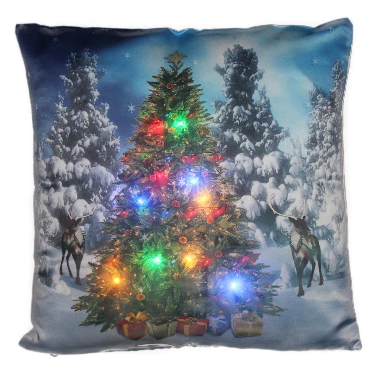 LED Kissen Weihnachtsbaum mit LED Beleuchtung