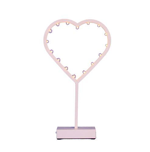 LED Herz weiß mit 16 Lichtern 40 cm