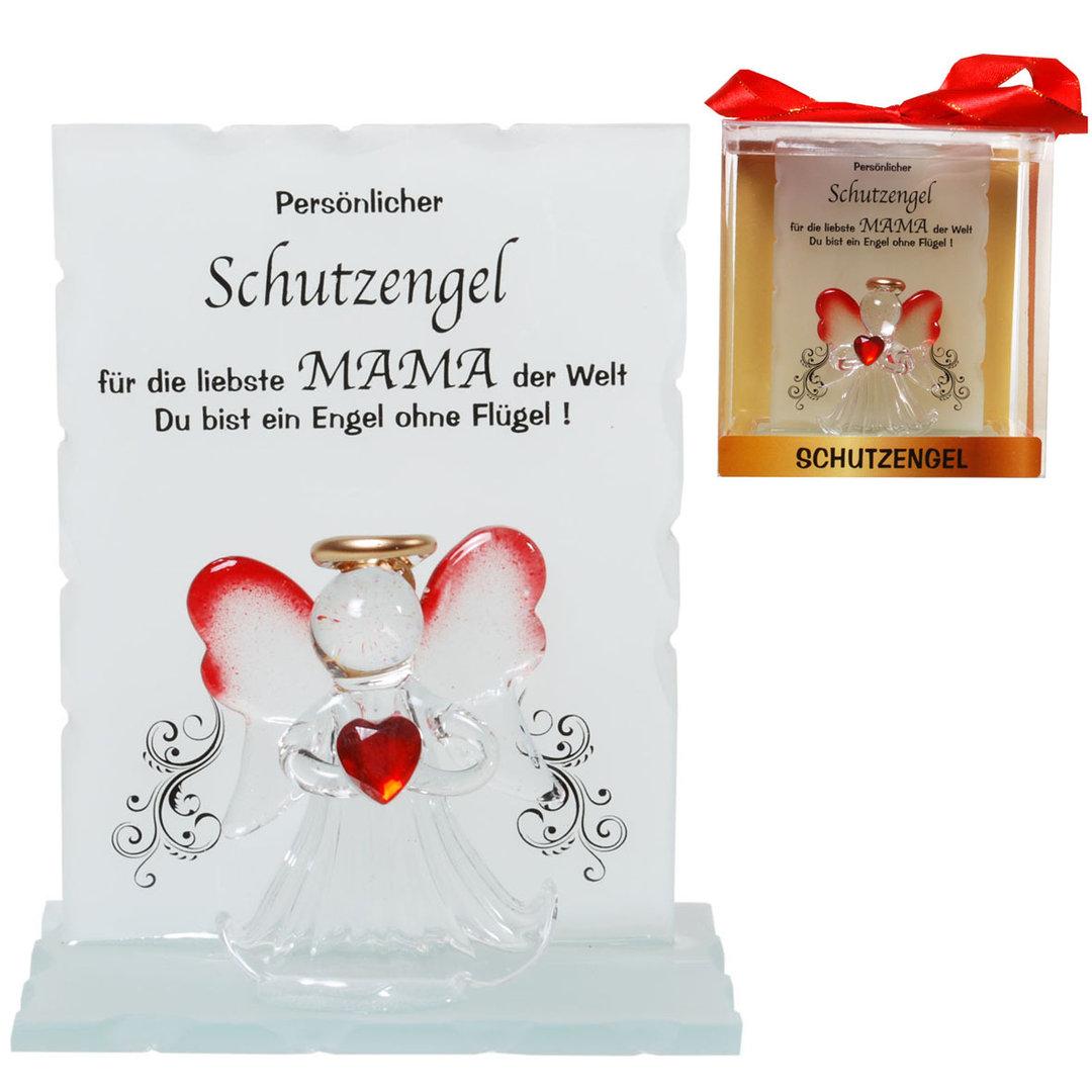 Kristall-Schutzengel Mama Geschenk Muttertag von Herzen