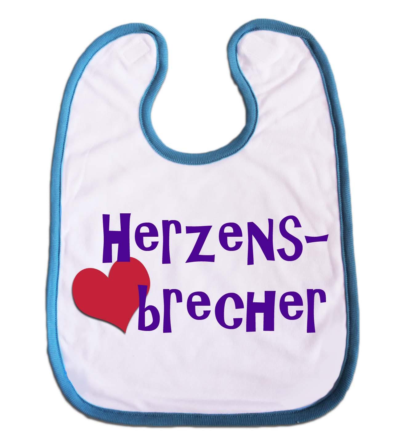 Lätzchen Herzensbrecher für Babys Jungs Mädchen blau