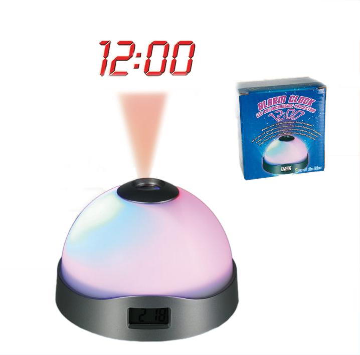 Wecker Uhr mit Projektion und Farbwechsel