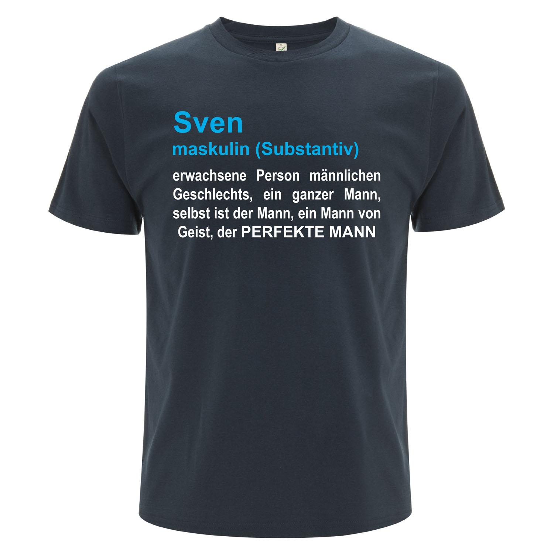 witziges T-Shirt Duden mit Name maskulin | für Männer in denim