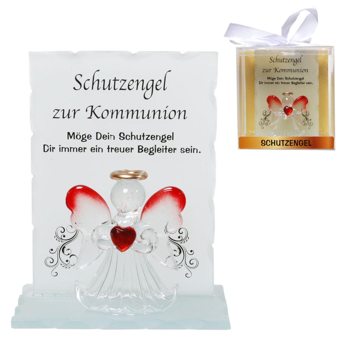 Kristall-Schutzengel Kommunion Geschenk von Herzen