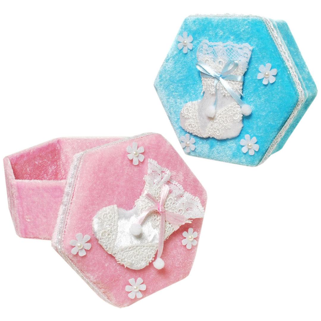 Geschenk-Schachtel Babyschuh Junge Mädchen
