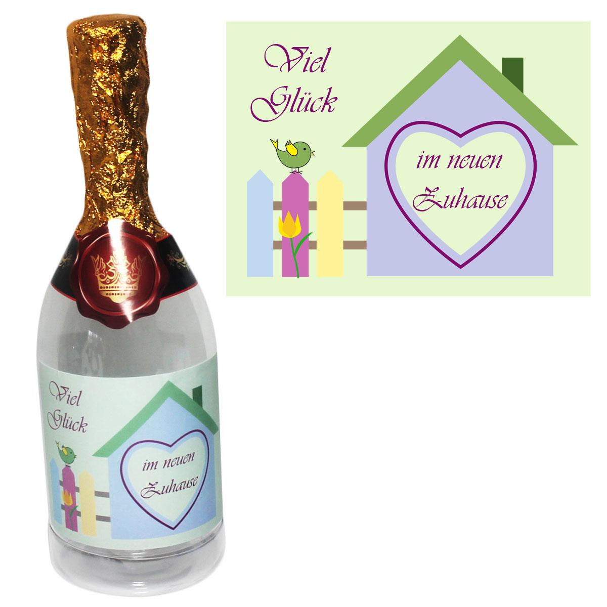 Flasche zum befüllen für das neue Zuhause Richtfest