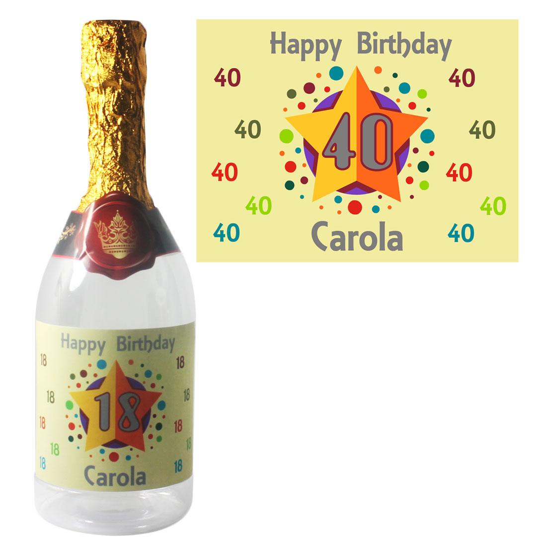 Flasche zum Befüllen zum Geburtstag mit Name
