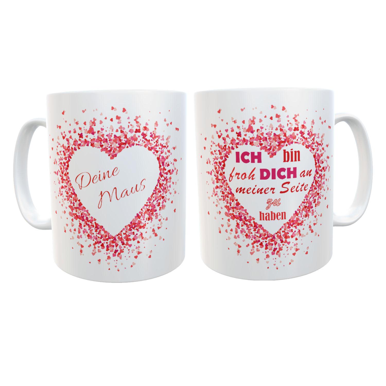 Tasse mit Name Liebe Valentinstag Dich an meiner Seite 01