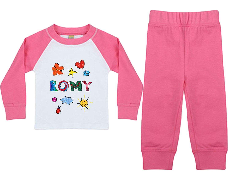 Baby Mädchen Schlafanzug mit Name personalisiert 01
