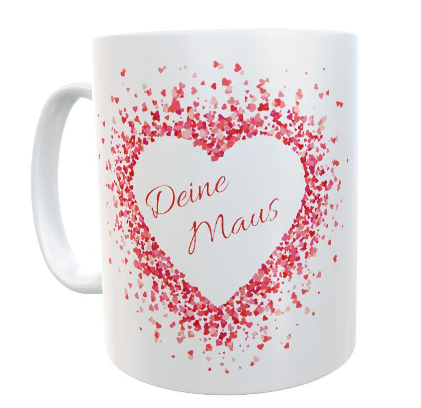 Tasse Liebe Valentinstag mit Name Ich verliebe mich 02
