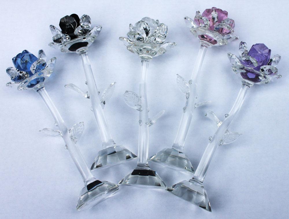 Kristallrose in versch. Farben Geschenkidee edle Rose
